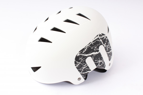 "BMX Freestyle Helm ""White"" Hardshell - E12"