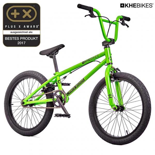 Chris Böhm 20 Zoll BMX Rad grün Vorderansicht