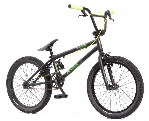 KHE BARCODE FS 20 Zoll BMX Rad schwarz nur 11,3kg