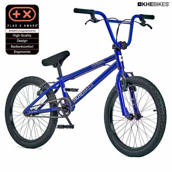 KHE Cosmic BMX Rad blau Vorderansicht