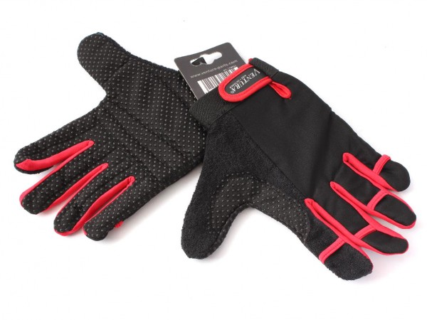 "VENTURA gloves ""M"" black/red - V88"