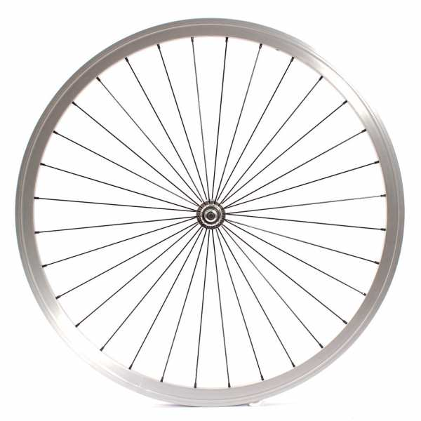 """KHE Fixie wheel front silver 700c, 28"""" - sealed bearing"""