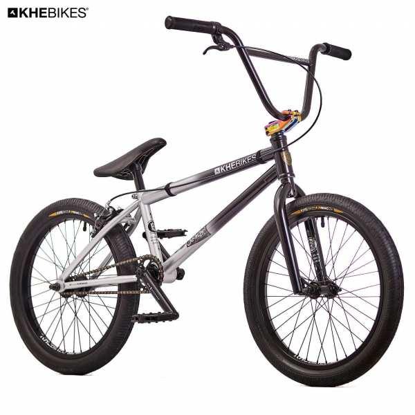 KHE Silencer BMX Rad schwarz Silber Frontansicht