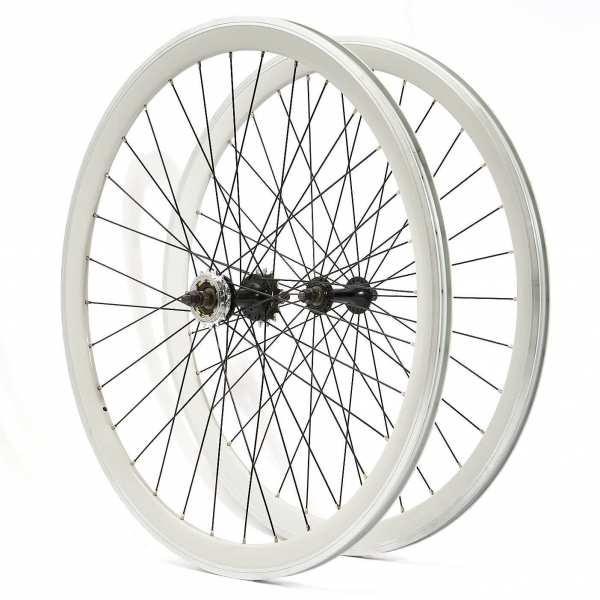 KHE Fixie Laufradsatz weiß 700c