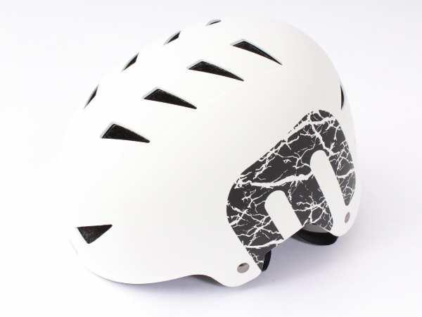 """BMX Freestyle Helm """"White"""" Hardshell - E12"""