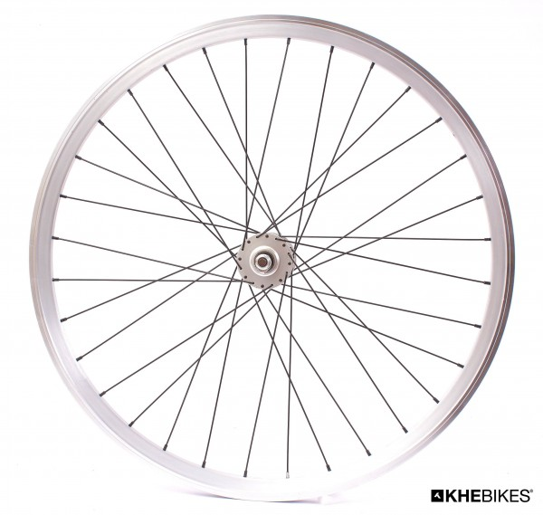 "KHE Fixie wheel front silver 700c, 28"" - sealed bearing - C3"