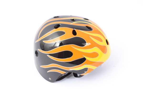 """BMX Freestyle Helm """"Flame"""" Hardshell - E12"""
