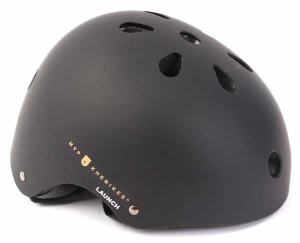 """KHE LAUNCH Freestyle Helm """"Matt Black"""" Hardshell - E12"""