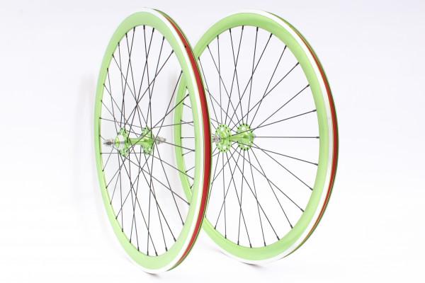 FIXIE Laufradsatz grün LIMITED 32 Loch - F