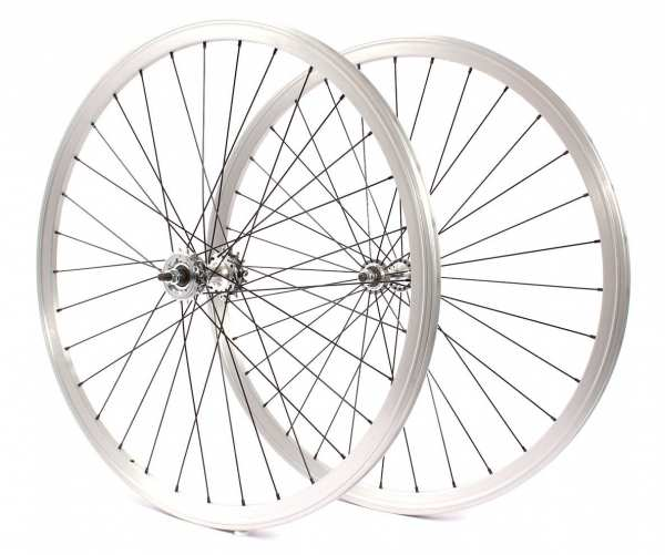 """KHE BIKES wheel set 700c, 28"""" double chamber silver - available from approx. 02.06."""