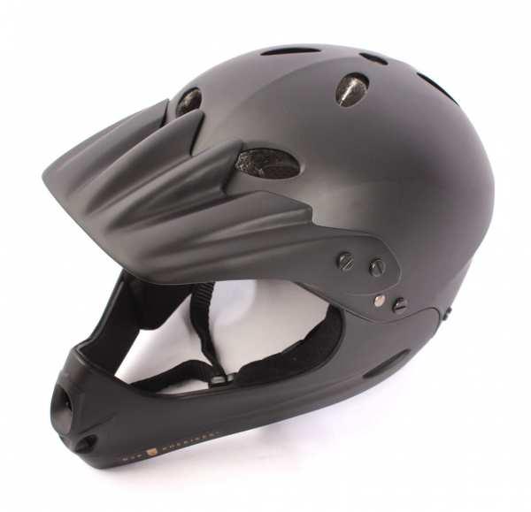BMX MTB Fullface Helm Matt Schwarz Größe M - E12