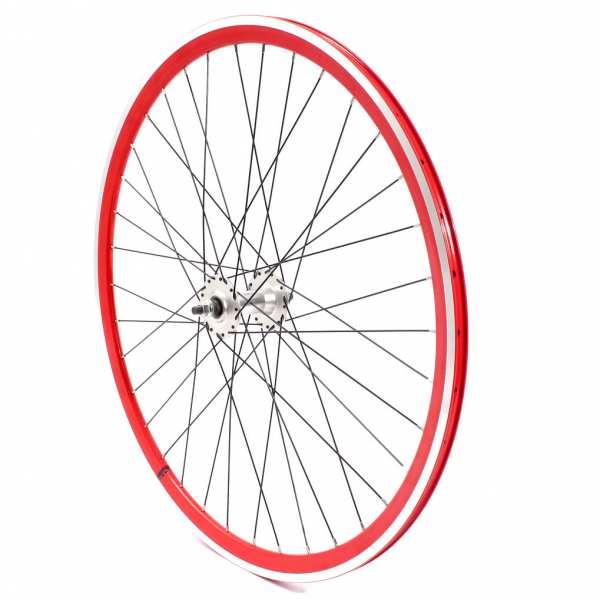 """KHE BIKES wheel 700c, 28"""" - sealed bearing red"""