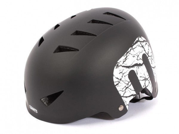 "BMX Freestyle Helm ""Matt Black"" Hardshell - E12"