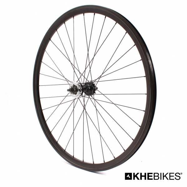 "KHE BIKES wheel rear 700c, 28"" double chamber black"